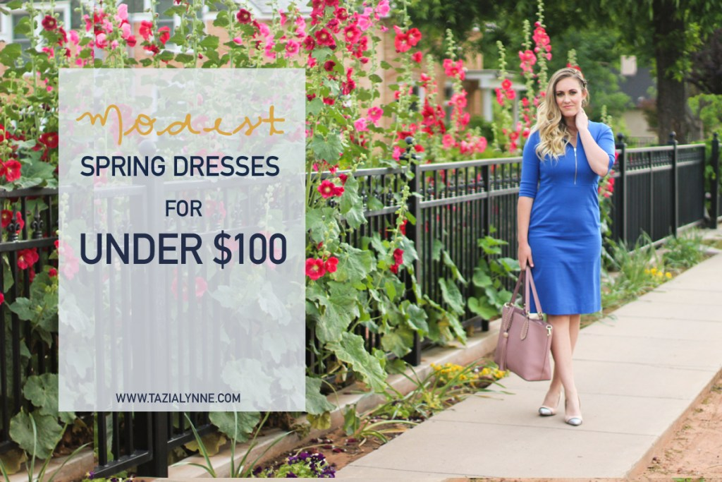 Modest Dresses for Under $100, spring dresses, spring outfit ideas