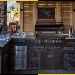 Outdoor Kitchens Decorating Calgary Tazscapes Inc Built In Kitchen
