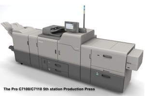 The Pro C7100/C7110 5th station Production Press