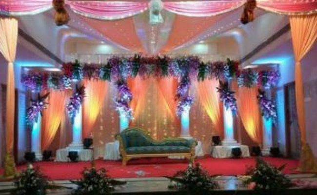 Floral Pillar And Drapes Decoration Tbg Bridal Store