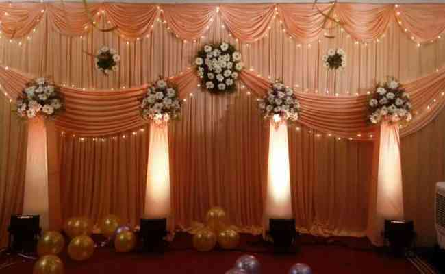 Flowers And Floral Lights Pillar Decoration Tbg Bridal Store