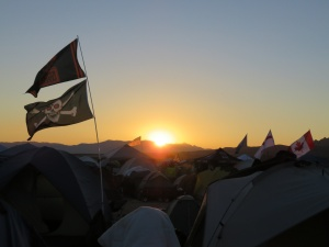 Sunrise over Tent City