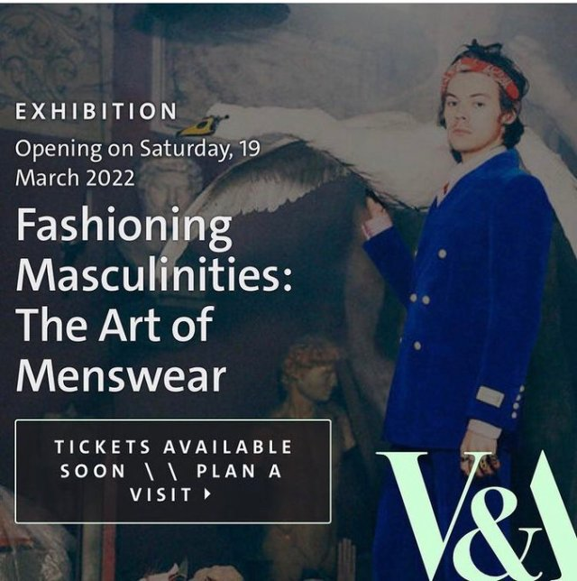 V and A Museum to launch an exhibition featuring Harry Styles and fashion designer Harris Reed