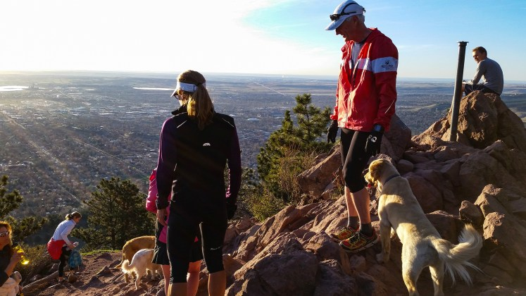 photo from the top of Mt. Sanitas in Boulder at dawn
