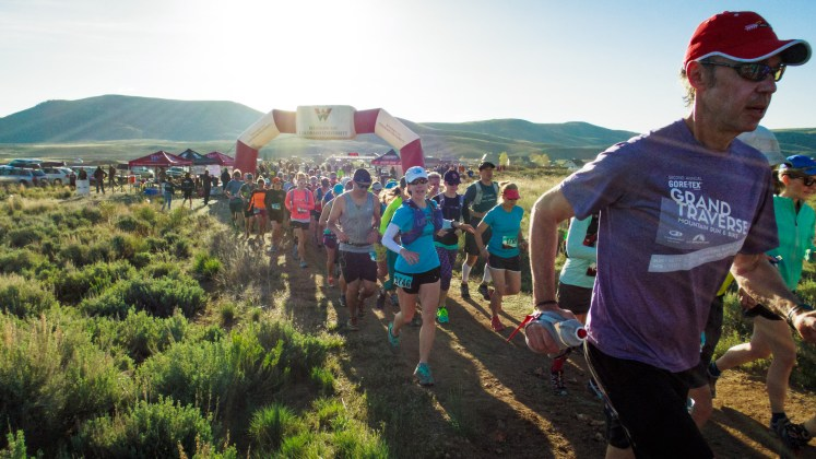 Sage Burner 25K trail race on May 21, 2016, in Gunnison, Colo.