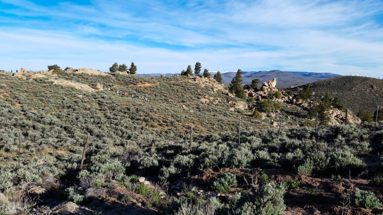 First few miles of the Sage Burner 25K trail race on May 21, 2016, in Gunnison, Colo.