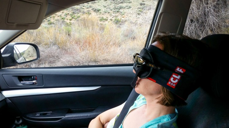 Taking a break on the drive to Gunnison, Colo., for the Sage Burner 25K race.