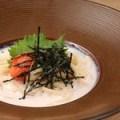 ピーチパスタ(極太パスタ)の濃厚明太子クリームうどん