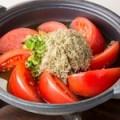 トマトのオリーブオイル焼き とろろ昆布の香り