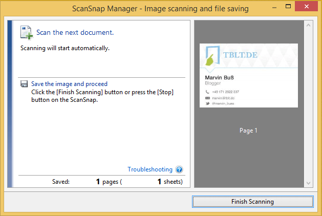 ScanSnap iX100 Windows Software
