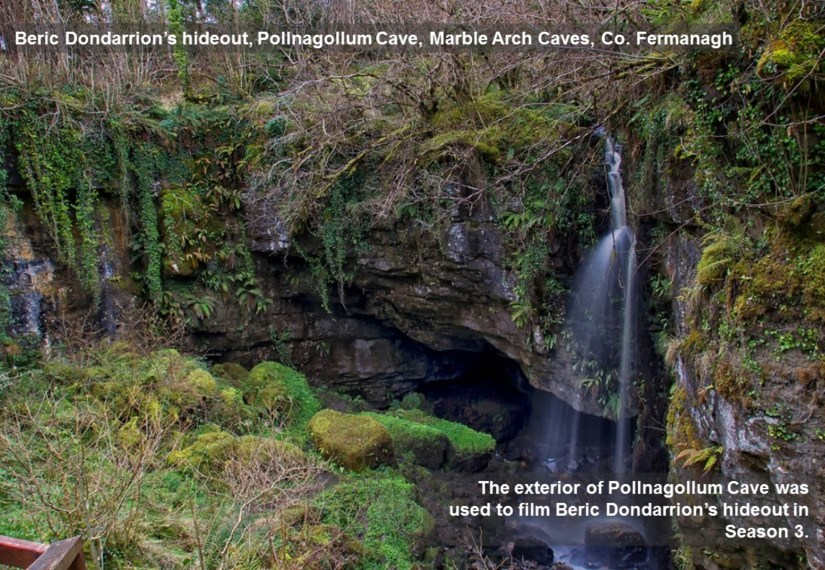 Northern Ireland Game of Thrones Filming Locations : Beric Dondarrion's Hideout : Pollnagollum Cave