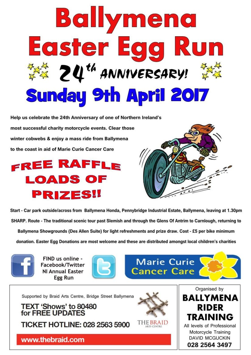 The Annual NI Easter Egg Run 2017