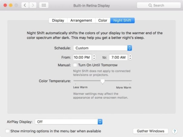 macOS 10.12.4 brings Night Shift to the Mac