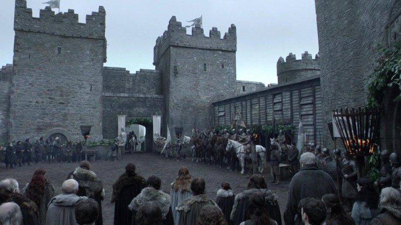 Northern Ireland Game of Thrones Filming Locations : Winterfell : Castle Ward : Image copyright of HBO, screencap from Screencapped.net