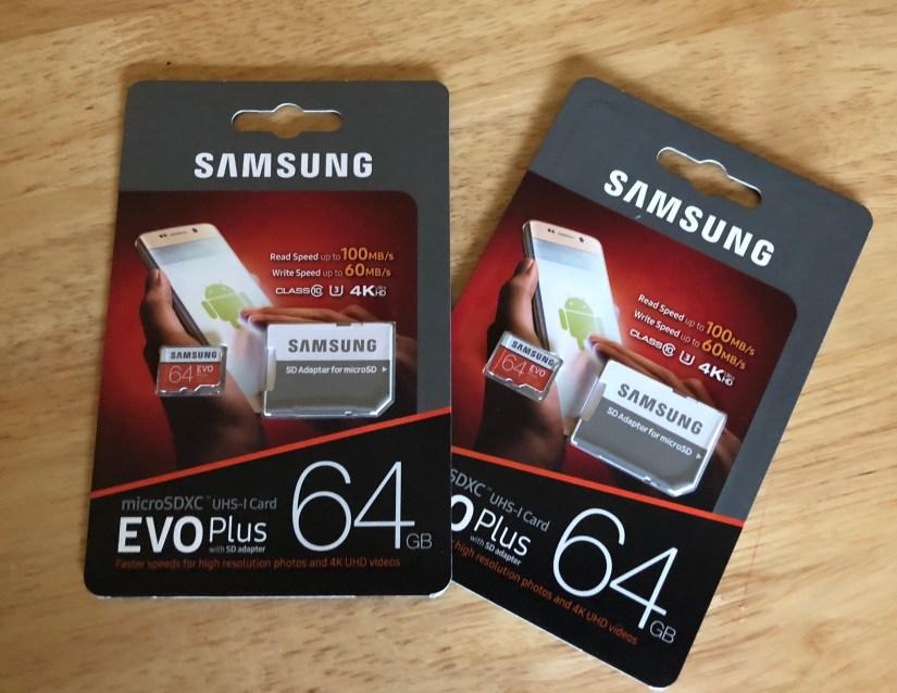 Samsung Evo Micro SD Cards