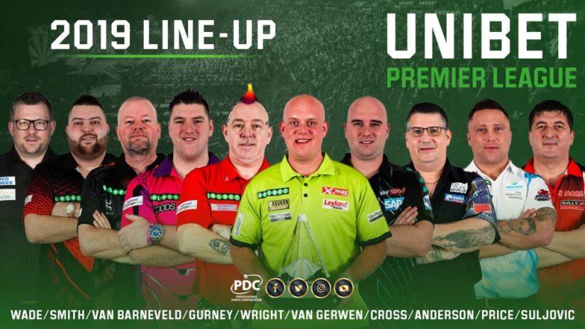 2019 Premier League of Darts Lineup