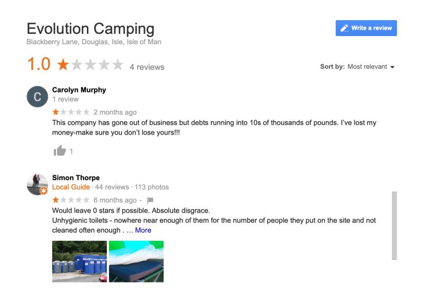 Evolution Camping Reviews