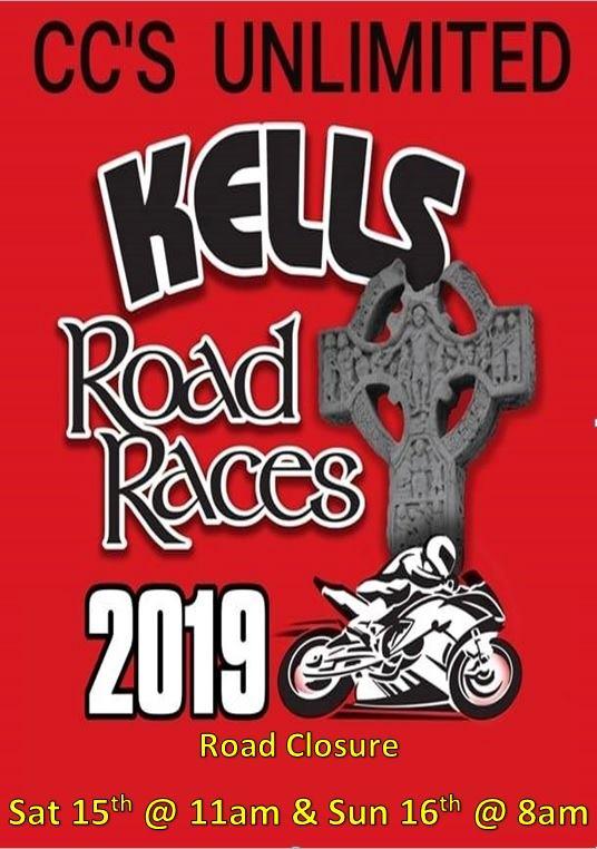 Kells Road Races 2019 : 15 - 16 June 2019