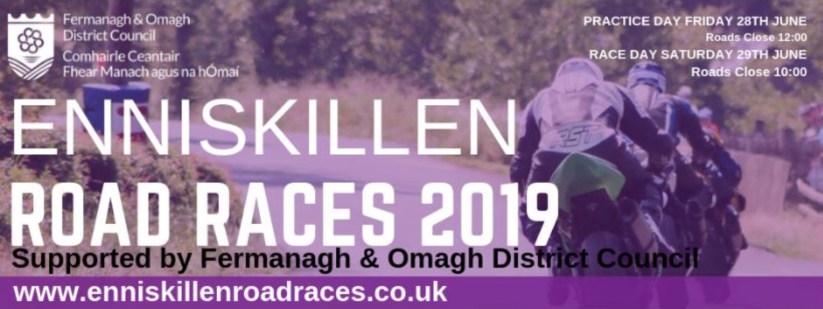 2019 Enniskillen Road Races Banner