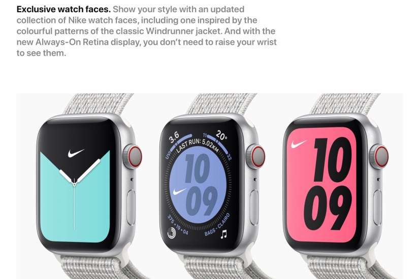 Apple Watch Nike Series 5 (Exclusive Nike Faces)