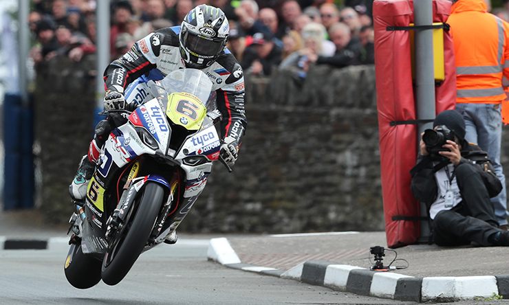 Michael Dunlop at the Isle of Man TT Races