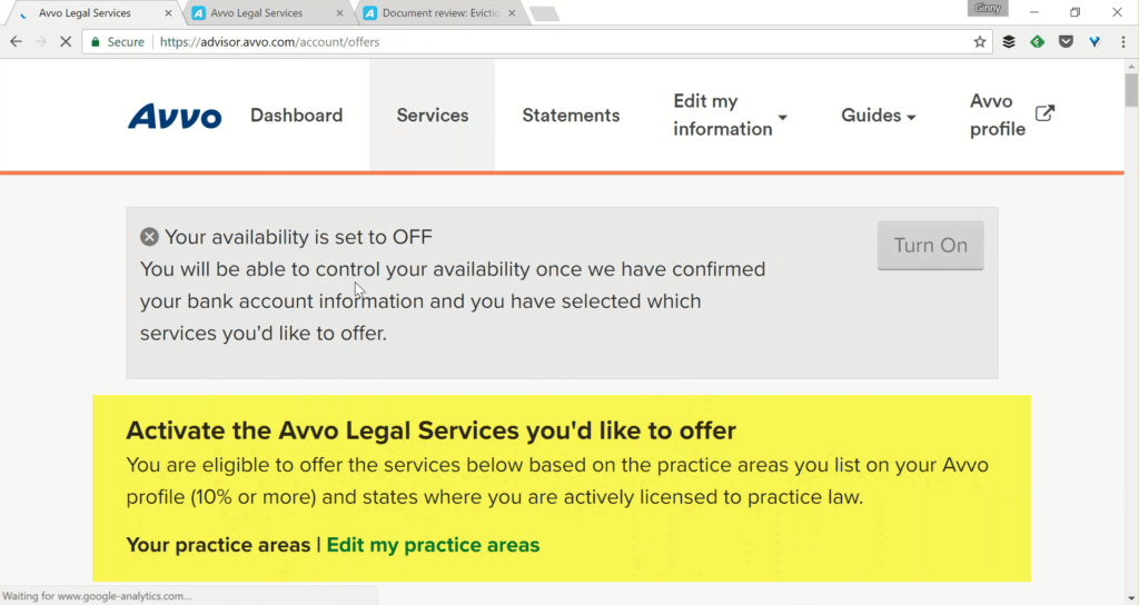 Avvo Legal Services - Activate Services