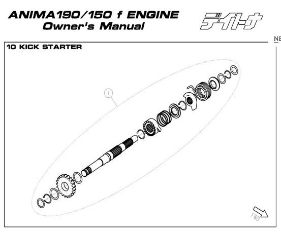 Daytona Anima 150 and 190 4V O.E.M. Kickstarter ASM 1