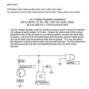 Voltage Regulator Dirt bike Type  W6657990  Electrical