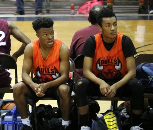 Eric and Mason Basketball Sideline
