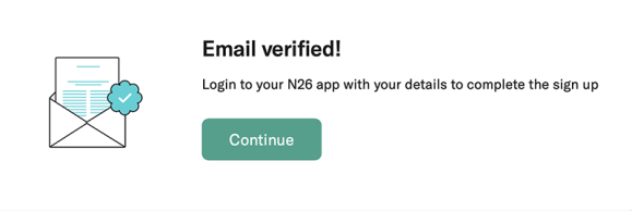 n26 email verified