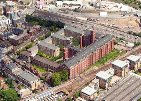 Strategic: An aerial view of the Lexington Building, in Bow, London, which is one of the six missile sites. The Defence Secretary has described the ground-based air defence systems as being a 'powerful deterrent' during the Games