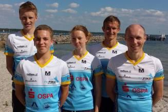 """Siegerteam """"Fischkombinat"""": Johannes Vogel, Ole Schwarz, Lili Altrichter, Matthias Weippert und Carsten Tautorat (von li.)"""