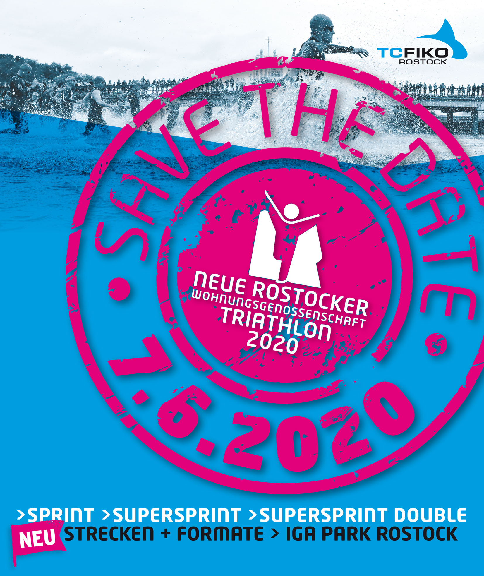 Die Anmeldung ist offen! Neue Rostocker Wohnungsgenossenschaft Triathlon 2020
