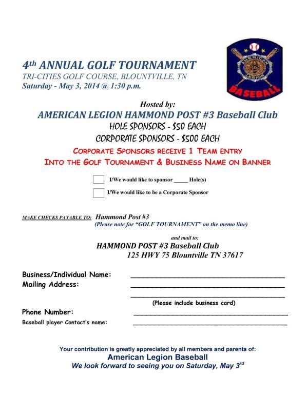Hole sponsor Golf 2014