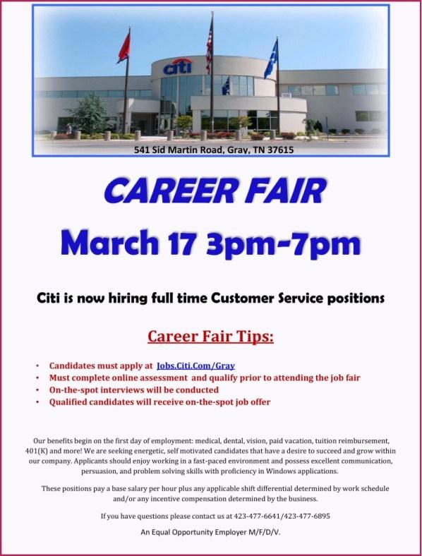 Citi Now Hiring Job Fair March 17 2015