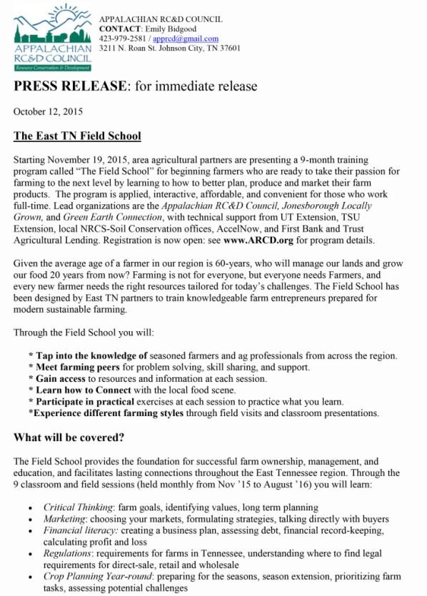Field School Article PR 10-12-15-1