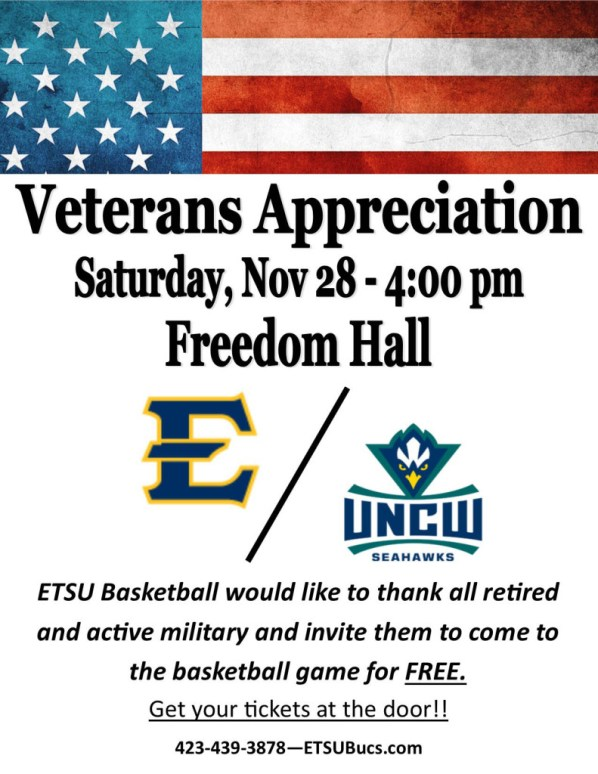 ETSU Vet Appreciation Basketball