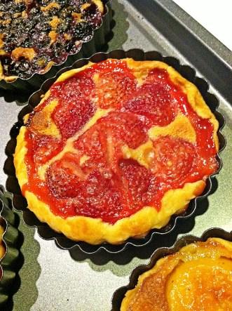 Strawberry Tart in Pan