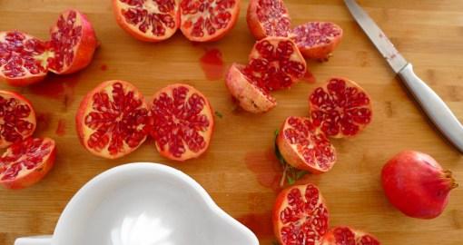 Cut Pomegranates in Half