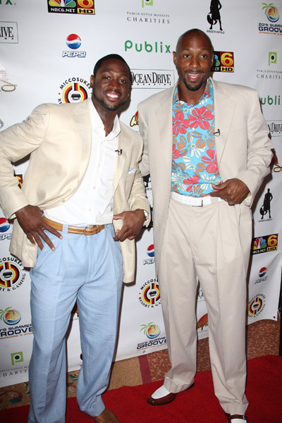 Dwayne Wade and Alonzo Mourning