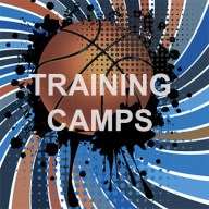 Basketball image background with text overlay reading Training Teams