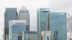 Image showing banks skyscrapers