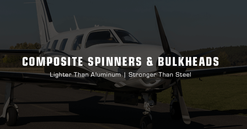 TCB Composite Piper Spinners and bulkheads