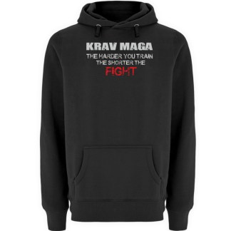 Krav Maga - The Harder You Train... - Unisex Premium Kapuzenpullover-16
