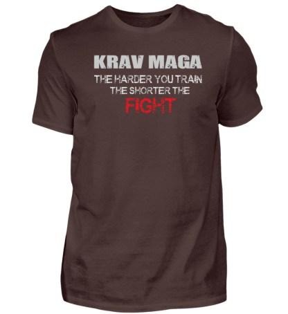 Krav Maga - The Harder You Train... - Herren Shirt-1074