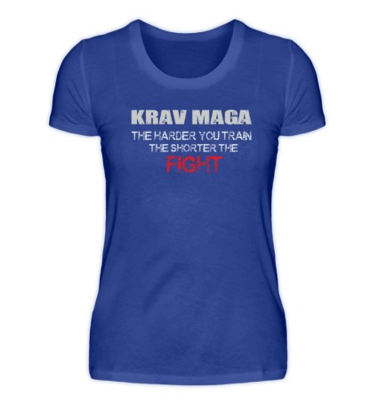 Krav Maga - The Harder You Train... - Damen Premiumshirt-27