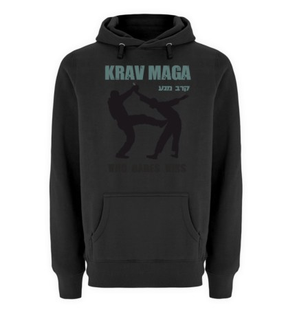 Krav Maga - Who Dares Wins - Unisex Premium Kapuzenpullover-16