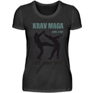 Krav Maga - Who Dares Wins - Damen Premiumshirt-16