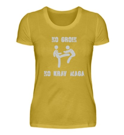 No Groin - No Krav Maga - Damen Premiumshirt-2980