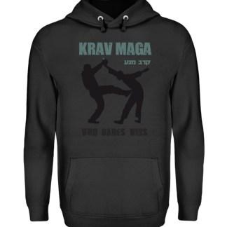 Krav Maga - Who Dares Wins - Unisex Kapuzenpullover Hoodie-1624